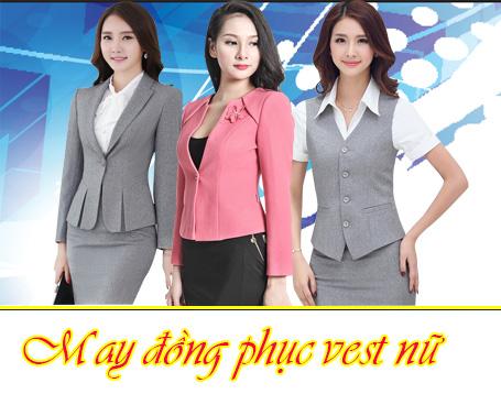 may dong phuc ao vest nu
