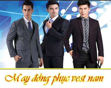 may dong phuc vest nam