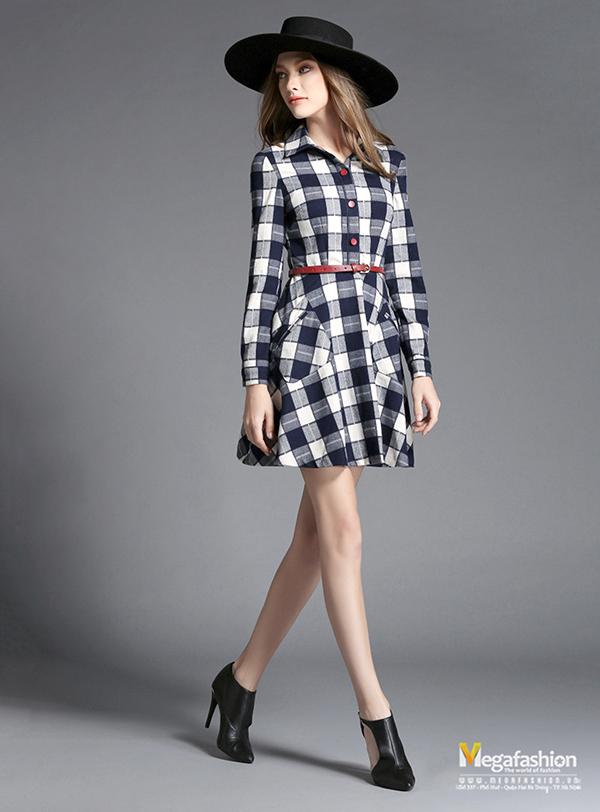 Váy kẻ caro