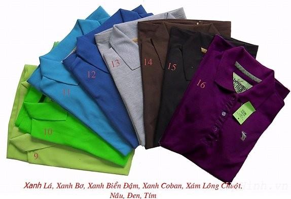 Áo thun và các màu sắc thông dụng