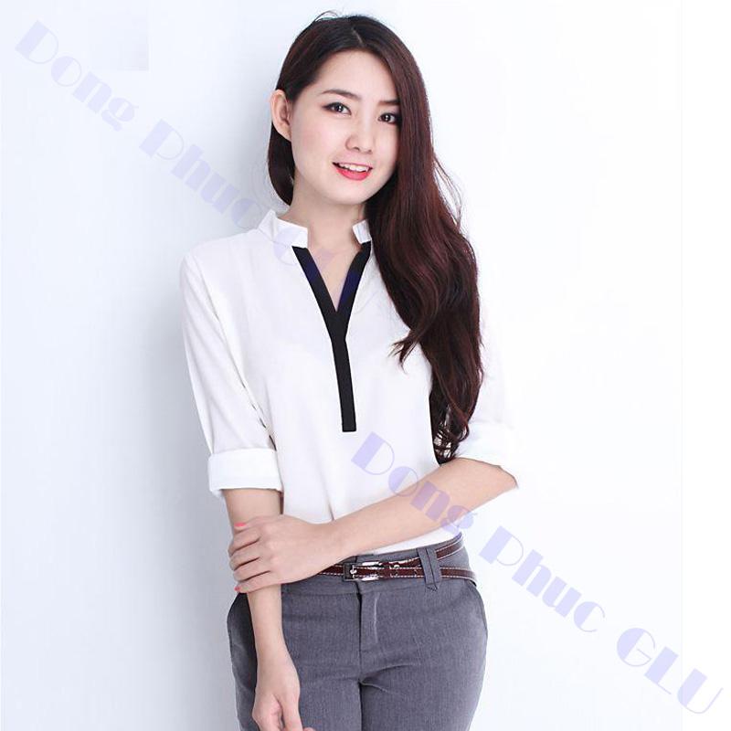 dong phuc cong so nu 03 áo sơ mi nữ đồng phục công sở