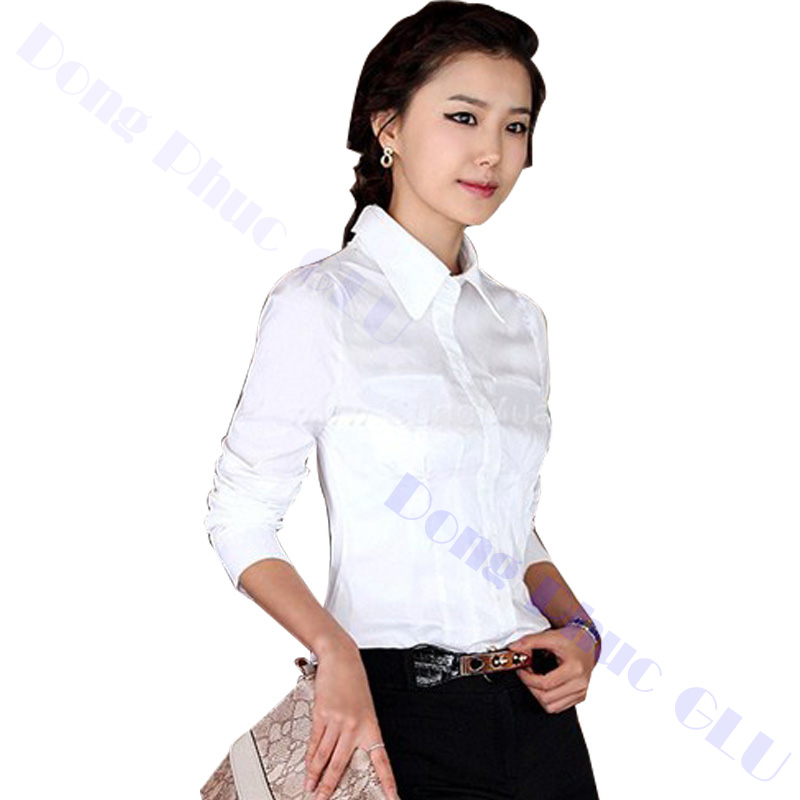 dong phuc cong so nu 04 áo sơ mi nữ đồng phục công sở