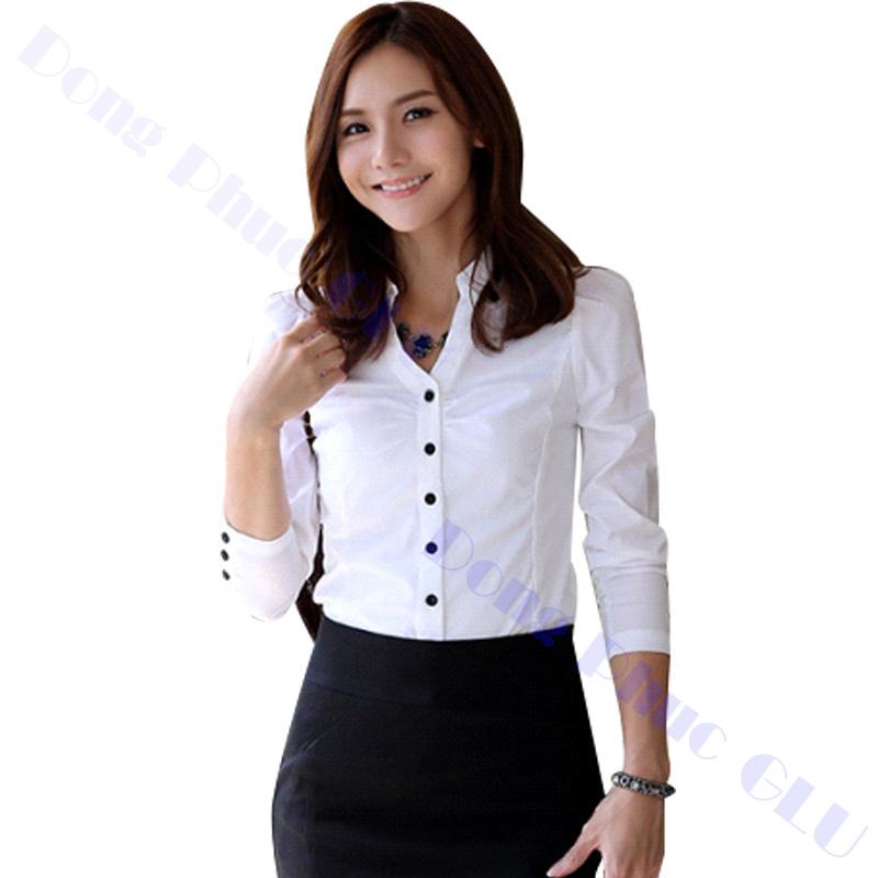 dong phuc cong so nu 05 áo sơ mi nữ đồng phục công sở