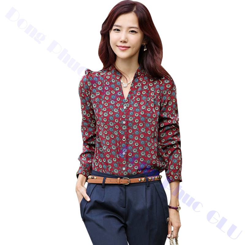 dong phuc cong so nu 07 áo sơ mi nữ đồng phục công sở