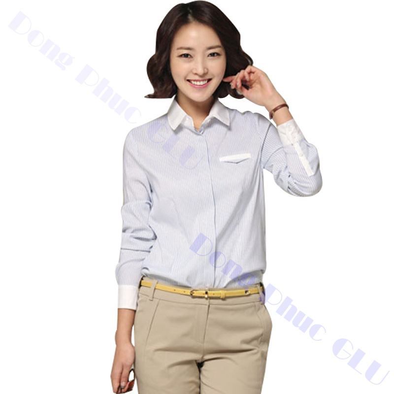 dong phuc cong so nu 17 áo sơ mi nữ đồng phục công sở
