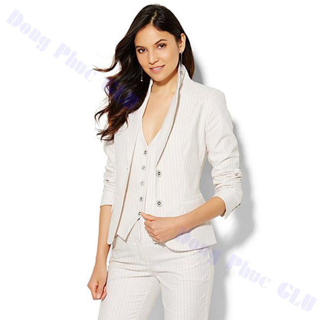 dong phuc vest nu 01 áo sơ mi nữ đồng phục công sở