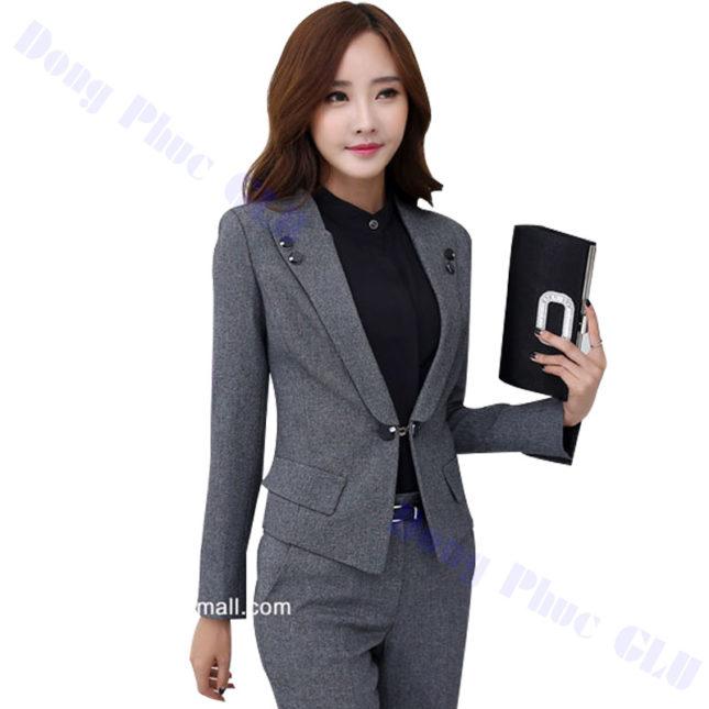 dong phuc vest nu 02 áo sơ mi nữ đồng phục công sở