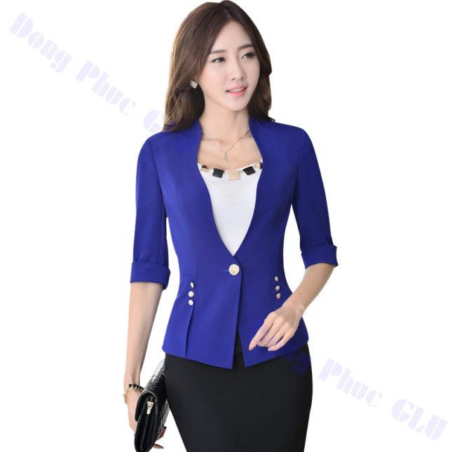 dong phuc vest nu 03 áo sơ mi nữ đồng phục công sở