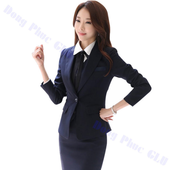 dong phuc vest nu 09 áo sơ mi nữ đồng phục công sở