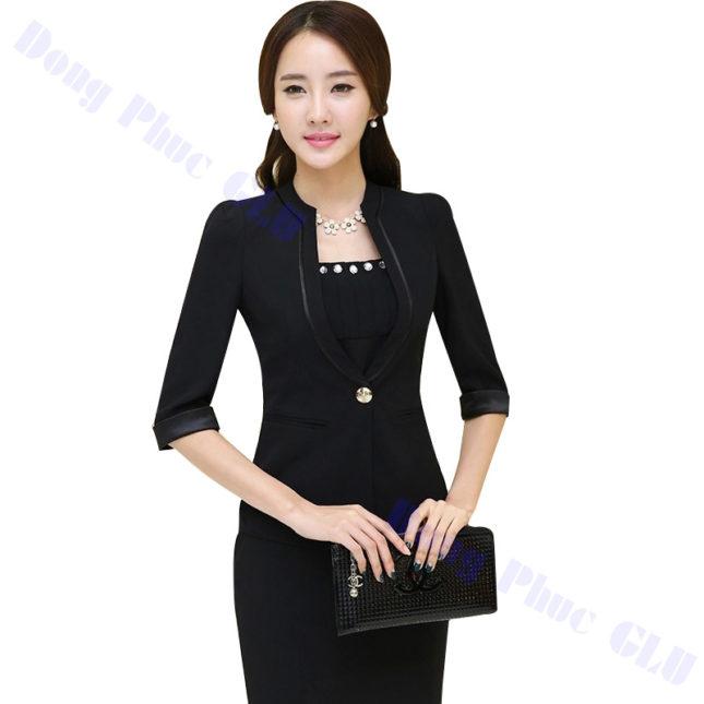 dong phuc vest nu 102 áo sơ mi nữ đồng phục công sở