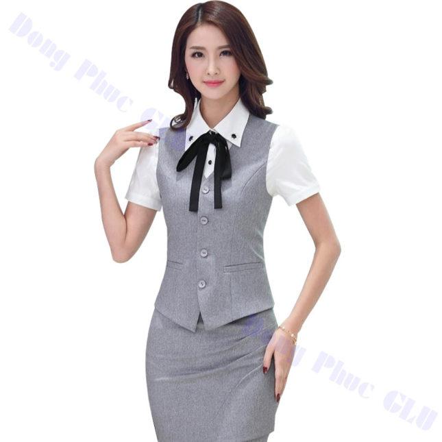 dong phuc vest nu 41 áo sơ mi nữ đồng phục công sở