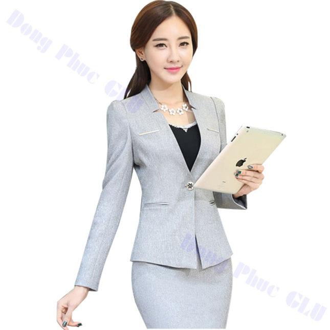 dong phuc vest nu 75 áo sơ mi nữ đồng phục công sở