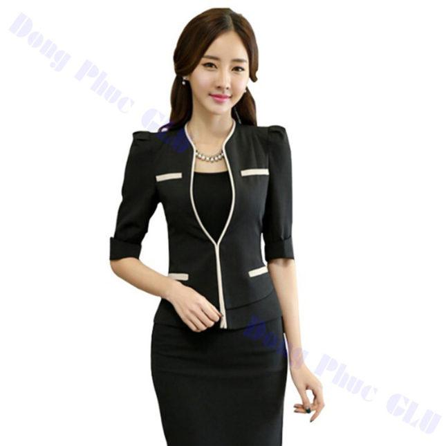 dong phuc vest nu 94 áo sơ mi nữ đồng phục công sở