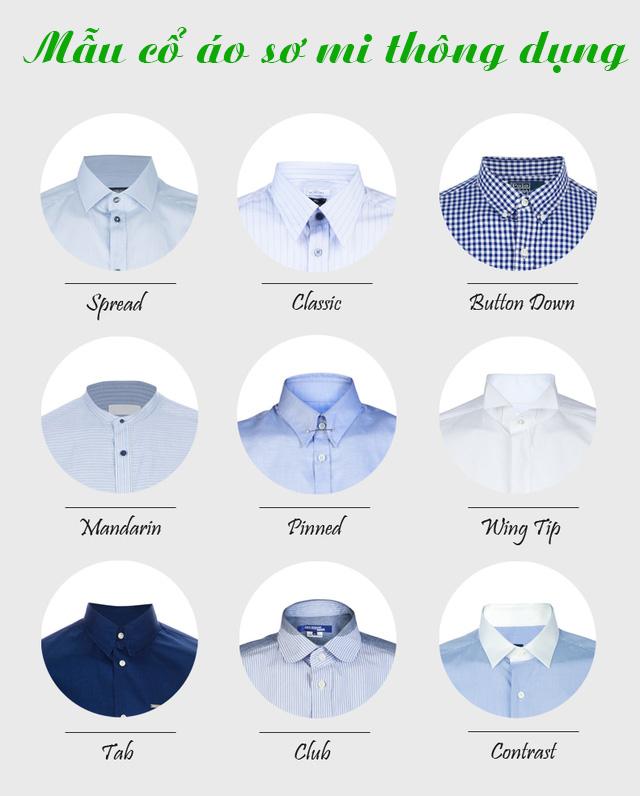 9 kiểu cố áo sơ mi thông dụng