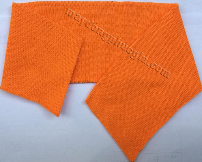 Bo cổ trơn màu cam