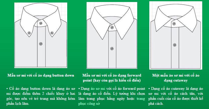 3 loại cổ áo sơ mi phổ biến nhất tại Việt Nam