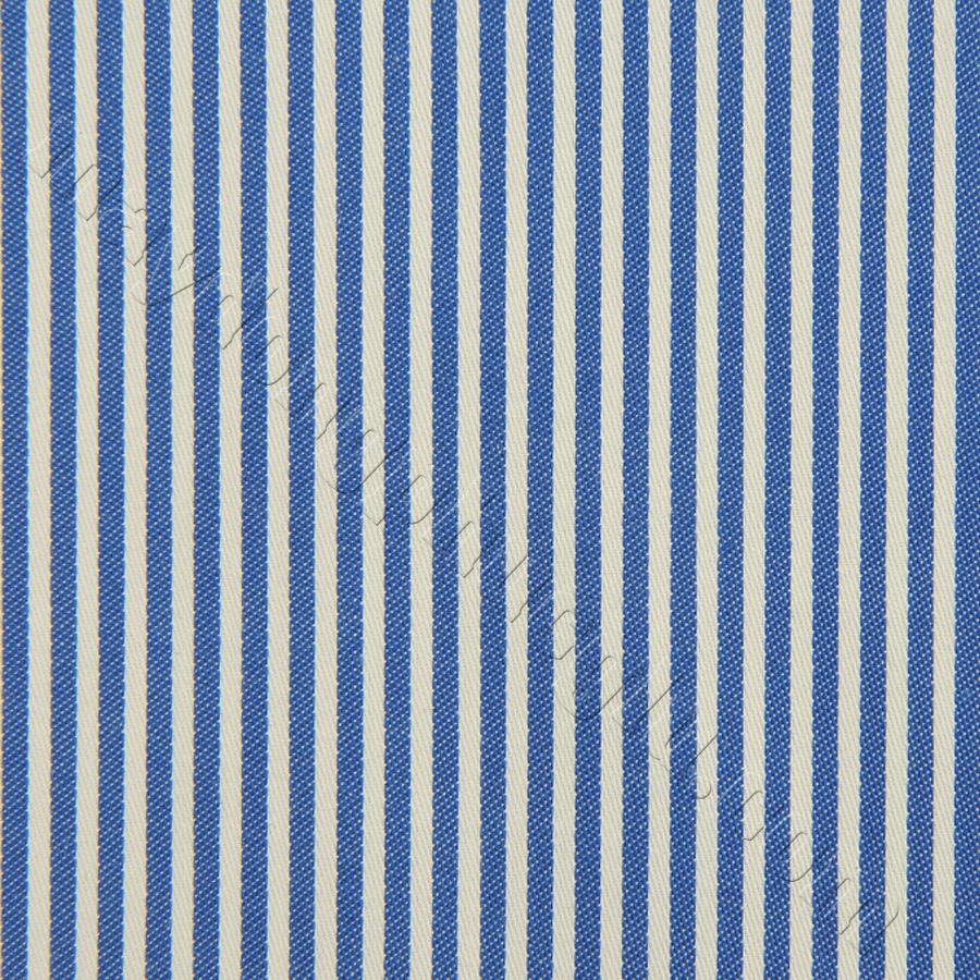 Vải Kate Ý sọc trắng xanh