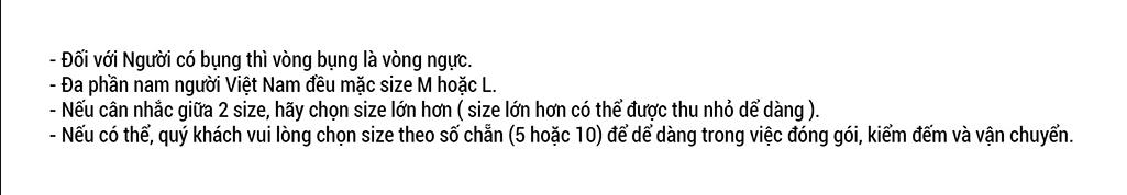Screenshot 1 cách đo size áo thun
