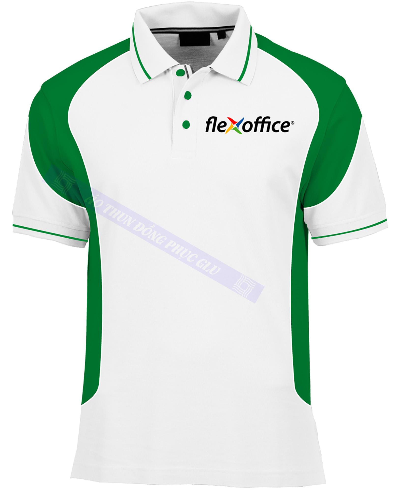 AO THUN FLEX OFFICE 2 AT364 áo thun đồng phục đẹp