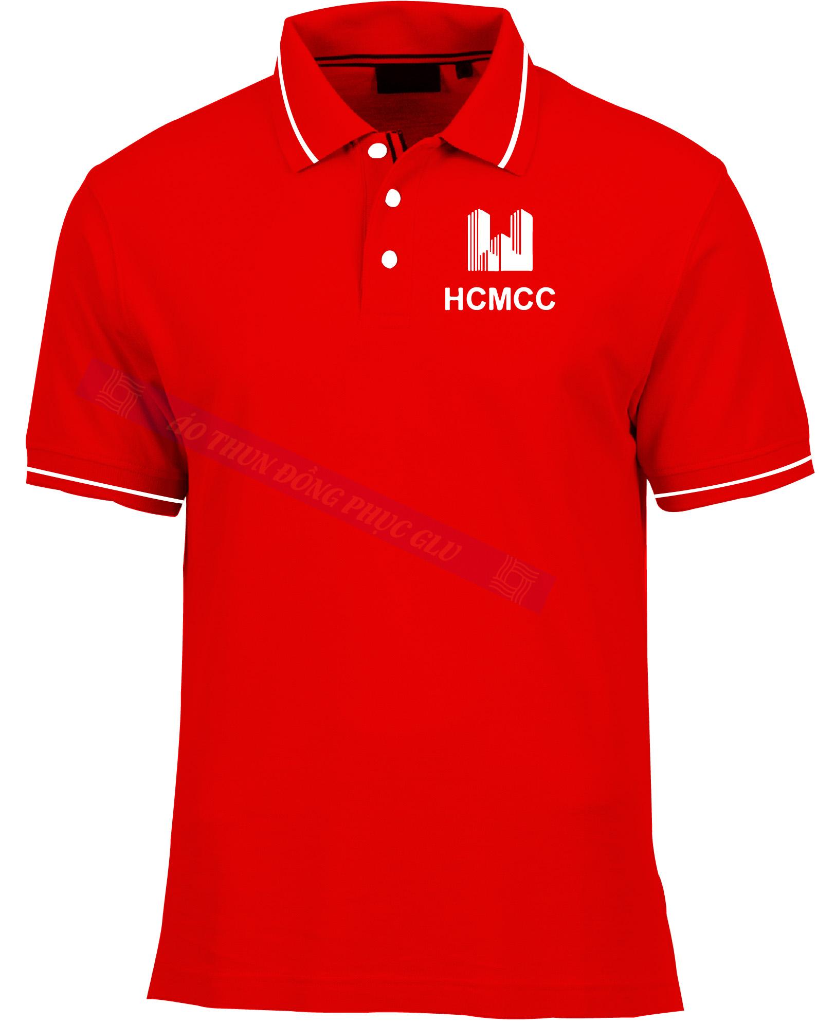 AO THUN HCMCC AT95 áo thun đồng phục có cổ