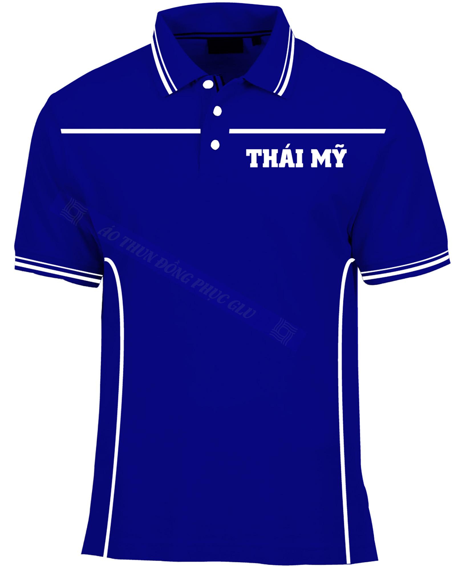 AO THUN THAI MY AT437 áo thun đồng phục có cổ