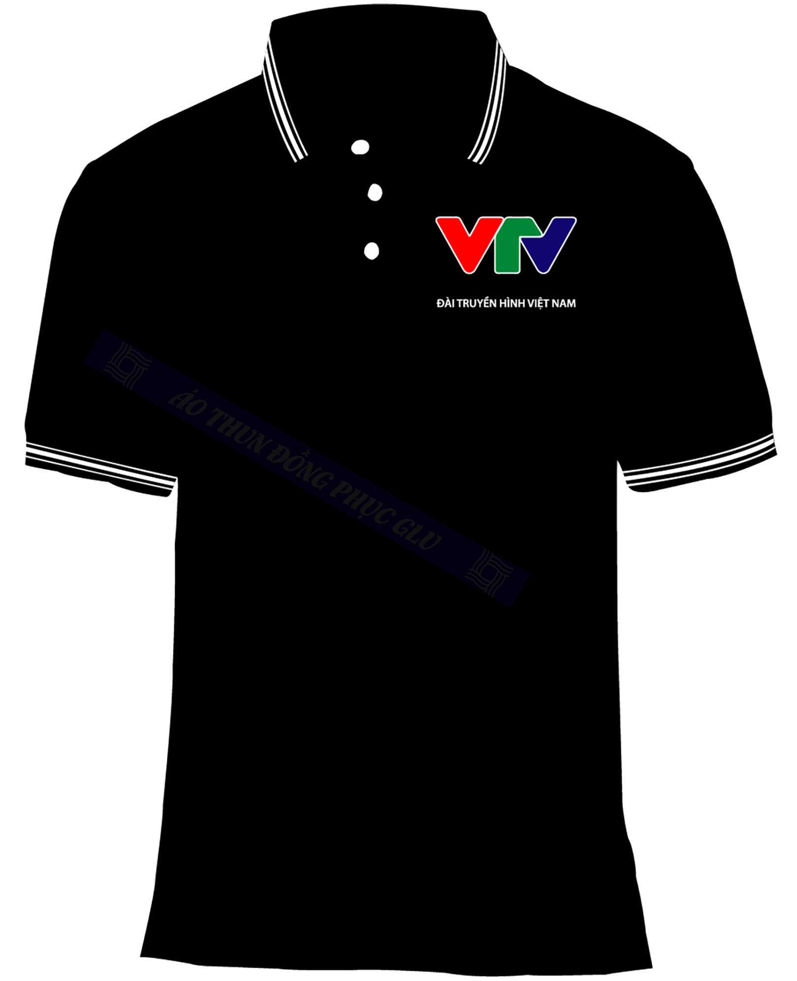 AO THUN VTV AT458 áo thun đồng phục có cổ