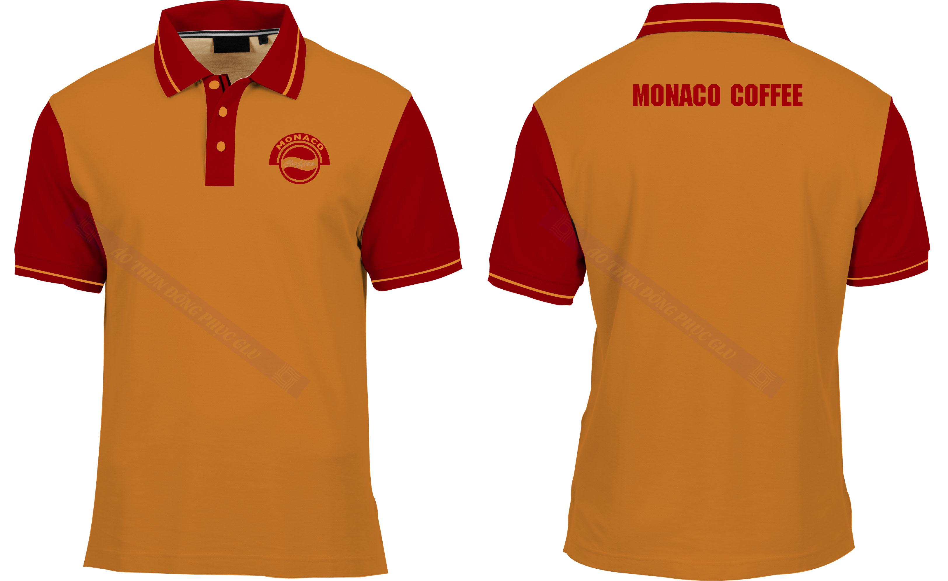 AO MONACO COFFEE áo thun đồng phục đẹp
