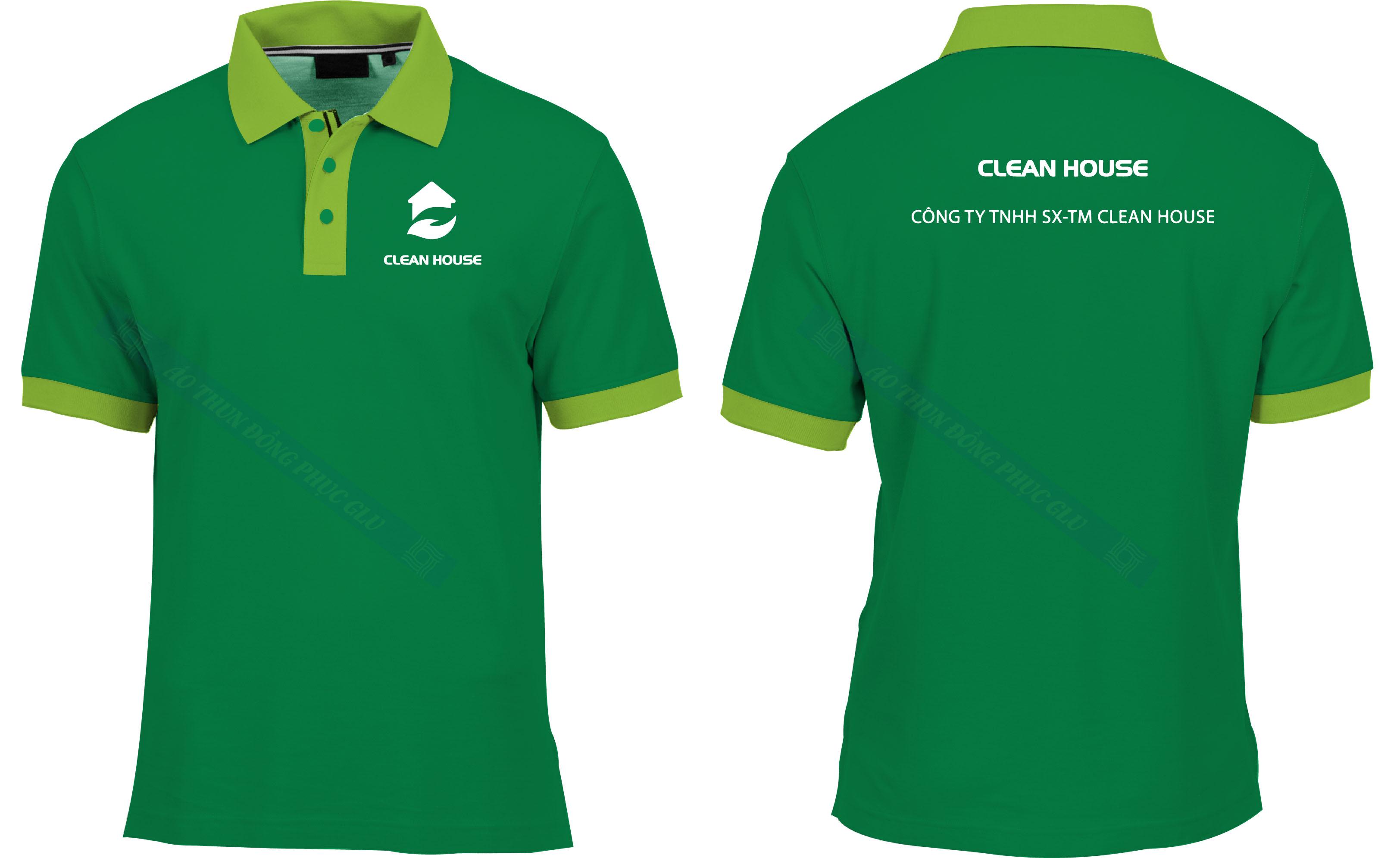 AO THUN CLEAN HOUSE áo thun đồng phục đẹp