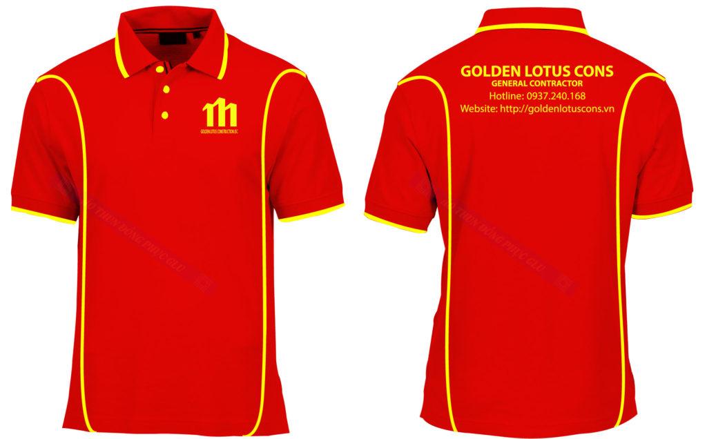 Áo thun đồng phục golden lotus