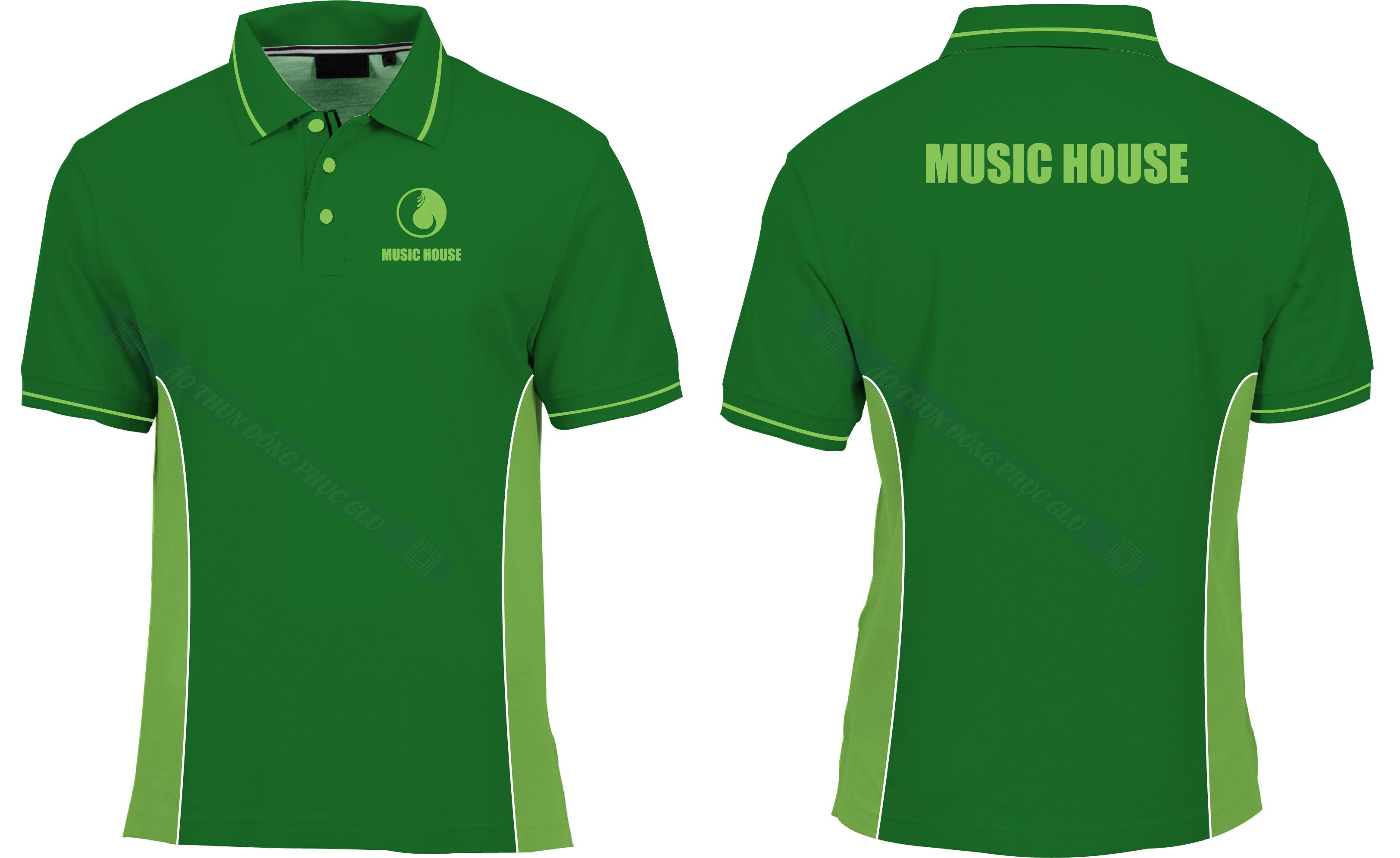 AO THUN MUSIC HOUSE đồng phục công ty đẹp