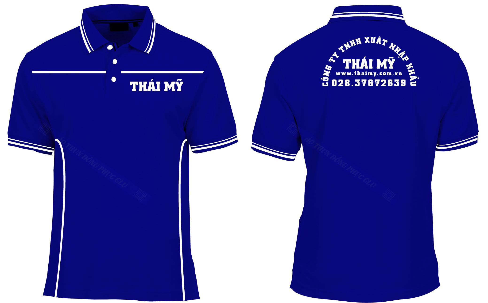 AO THUN THAI MY đồng phục công ty đẹp