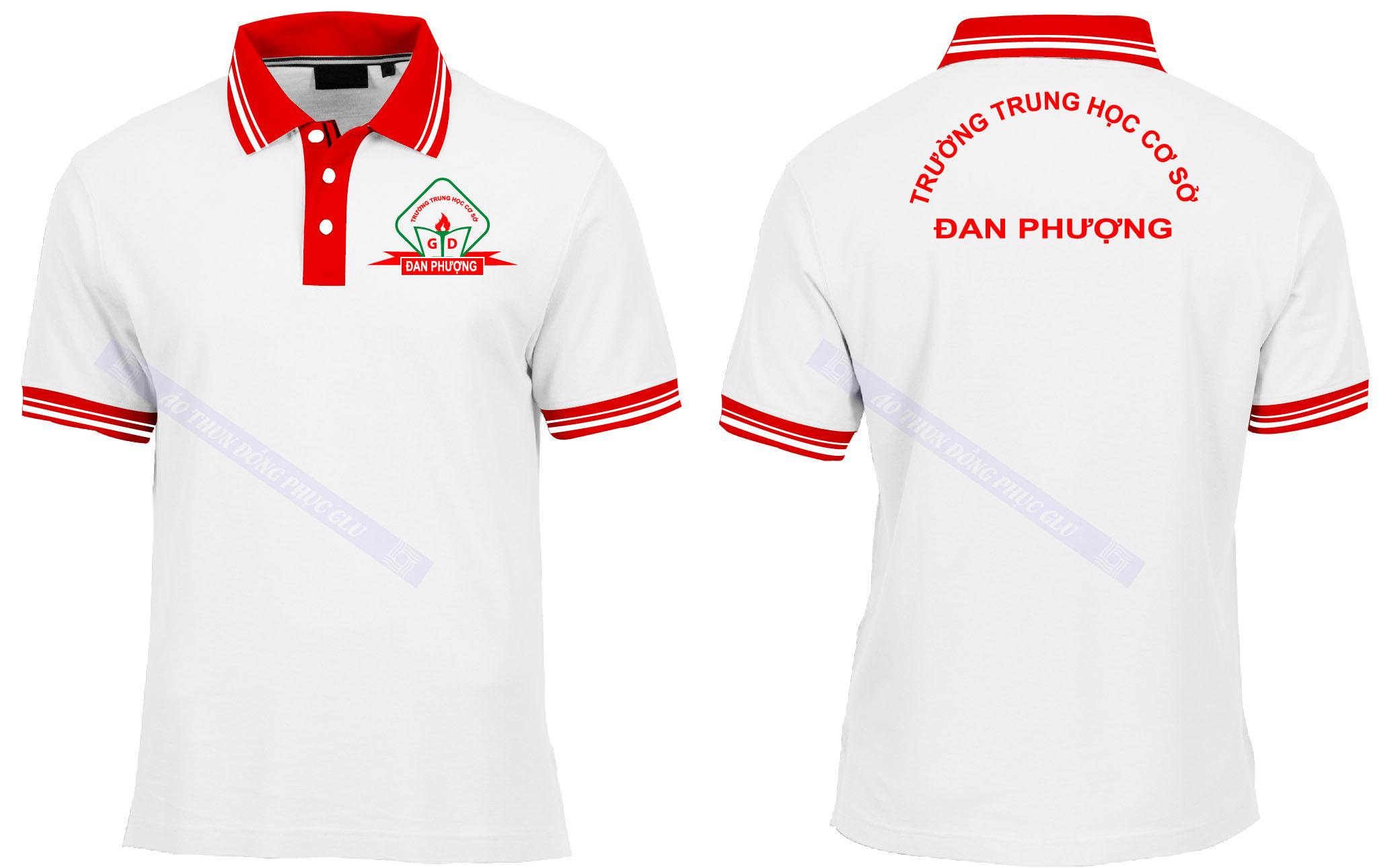 AO THUN THCS DAN PHUONG đồng phục công ty đẹp