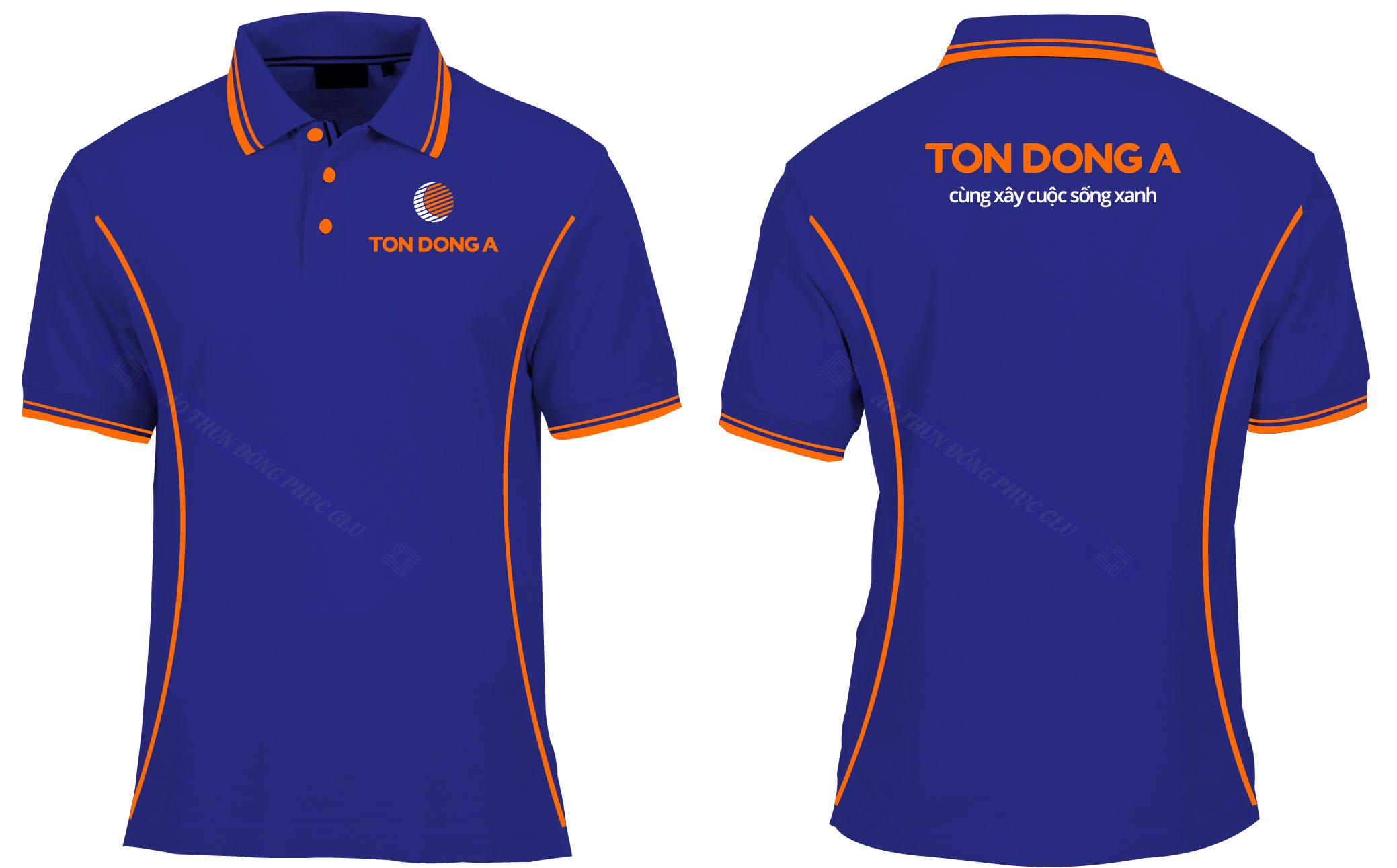 AO THUN TON DONG A đồng phục công ty đẹp