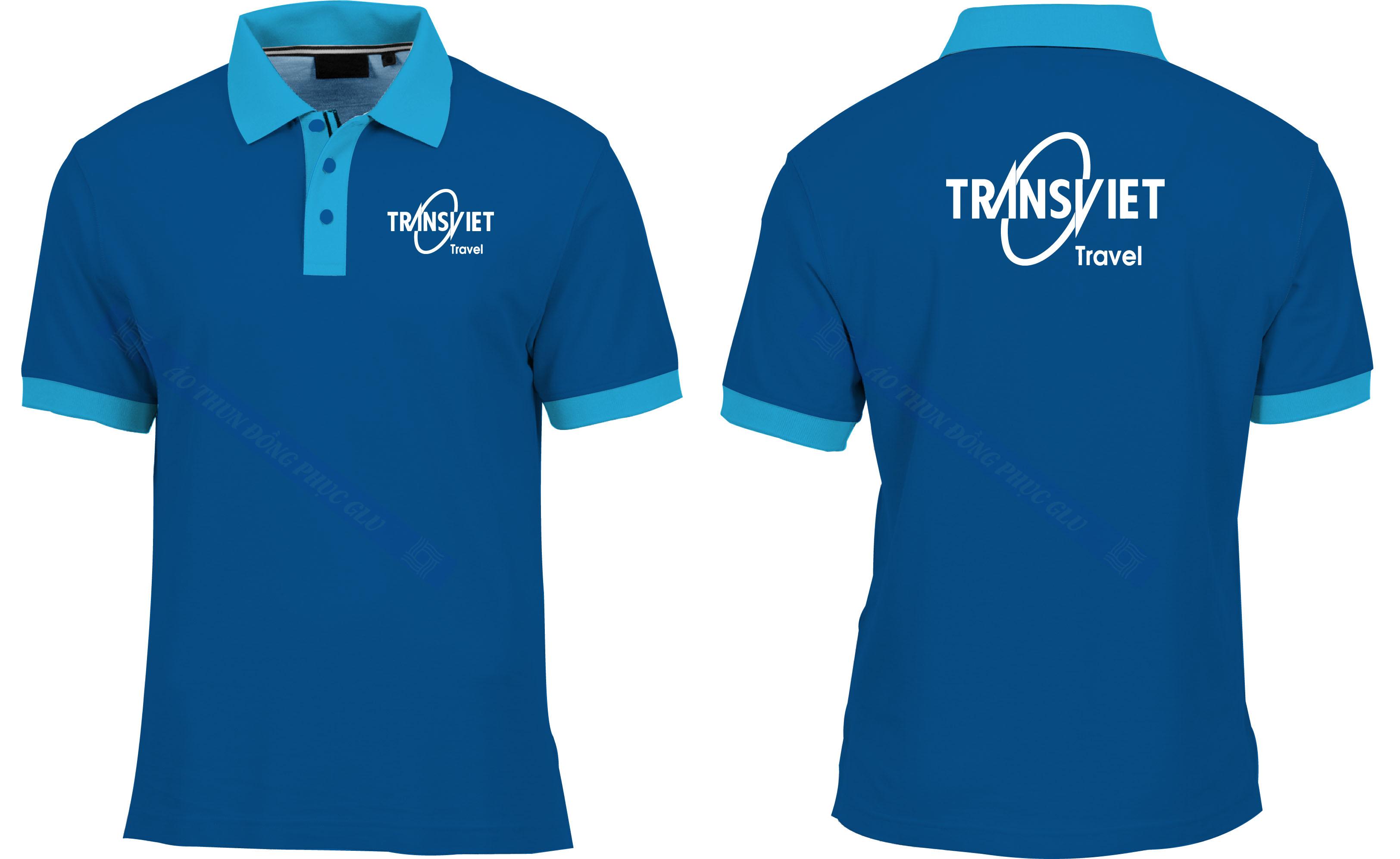 AO THUN TRANVIET TRAVEL đồng phục công ty đẹp