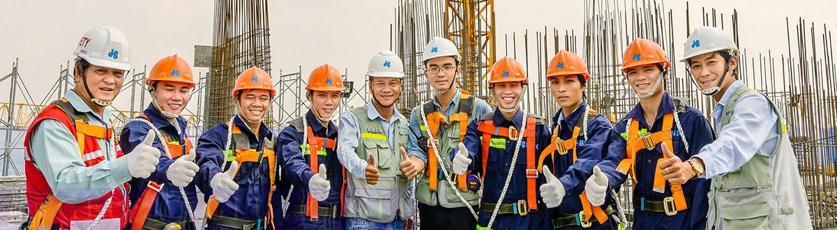 Quần áo bảo hộ lao động ngành xây dựng