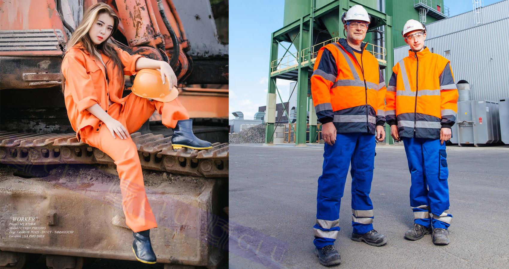 Quan ao dong phuc cong nhan GLU 360 mẫu áo công nhân