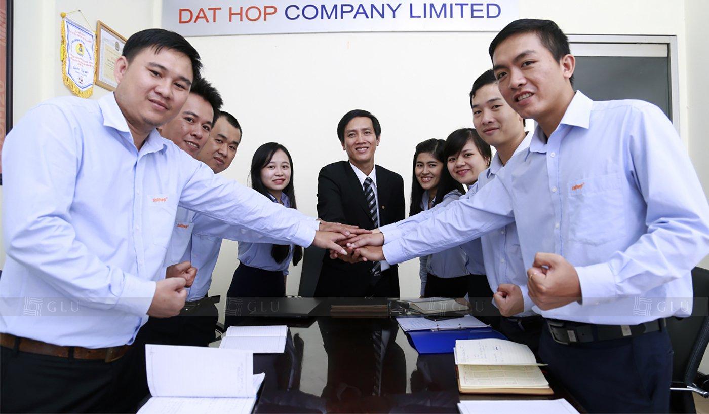 Banner ao dong phuc cong so GLU 04 áo đồng phục công ty đẹp