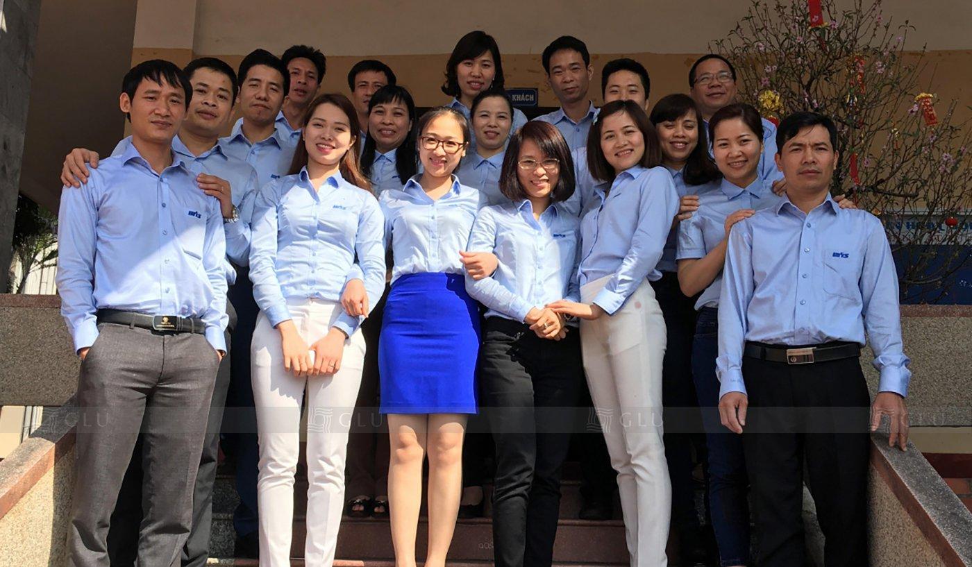 Banner ao dong phuc cong so GLU 16 áo đồng phục công ty
