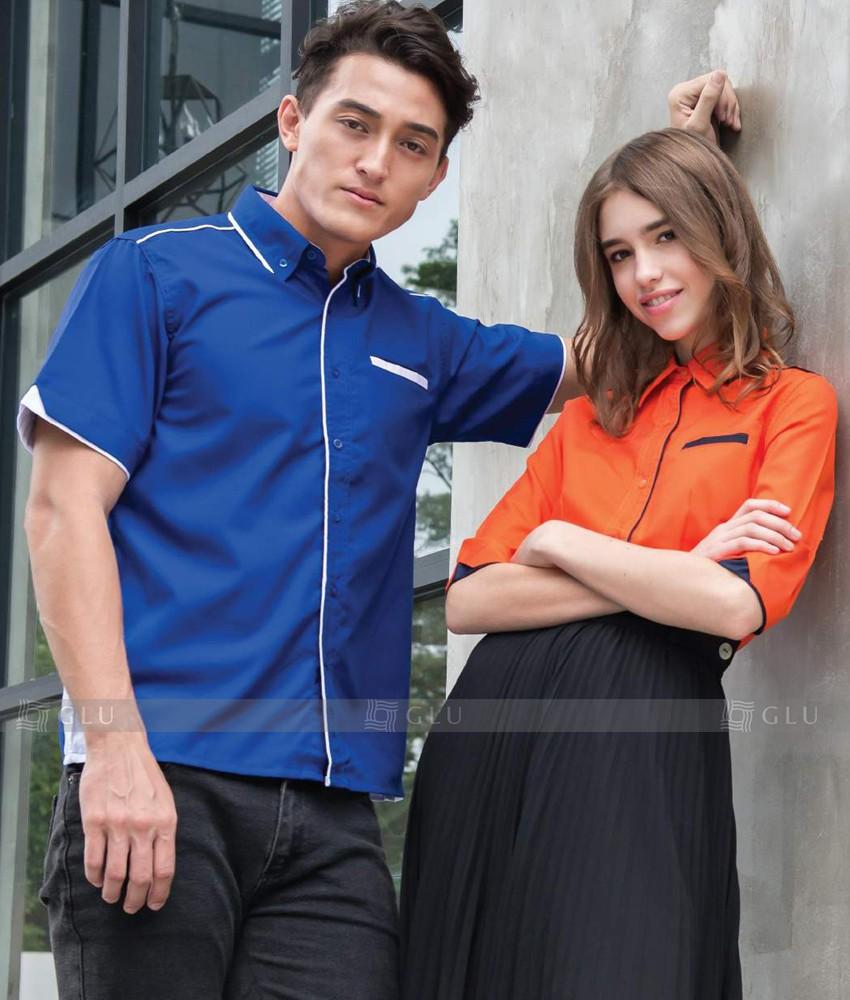 Dong phuc cong so GLU áo đồng phục công ty đẹp