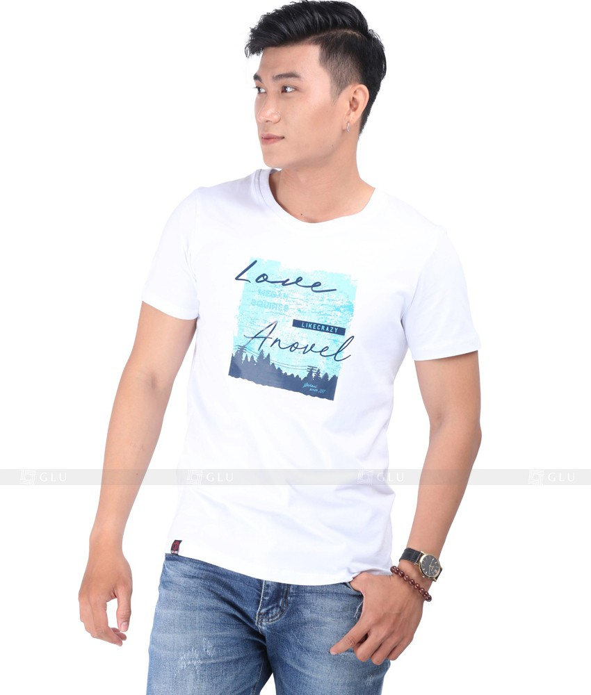 Ao Thun Nam Co Tron GLU TR132