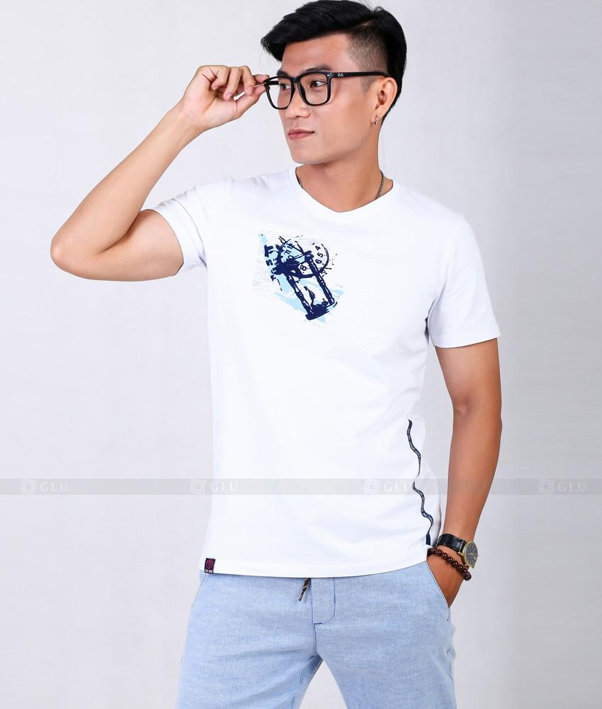 Ao Thun Nam Co Tron GLU TR156