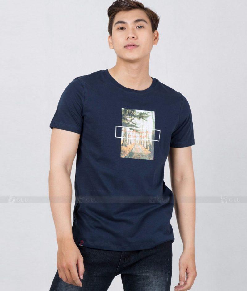 Ao Thun Nam Co Tron GLU TR163