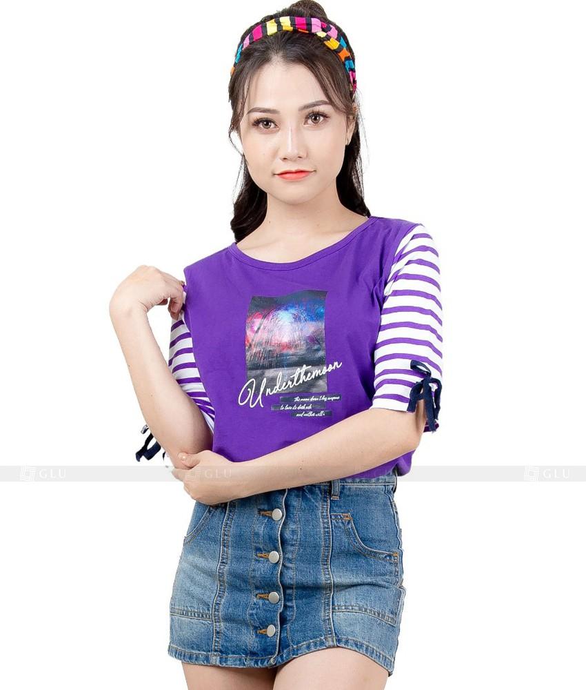 Ao Thun Nu Co Tron GLU TR126