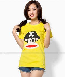 Ao Thun Nu Co Tron GLU TR21 may áo thun nữ cổ tròn