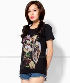 Ao Thun Nu Co Tron GLU TR24 may áo thun nữ cổ tròn