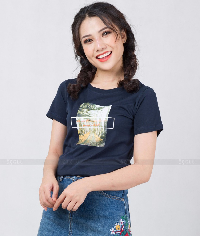 Ao Thun Nu Co Tron GLU TR276