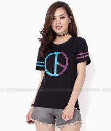 Ao Thun Nu Co Tron GLU TR28 may áo thun nữ cổ tròn