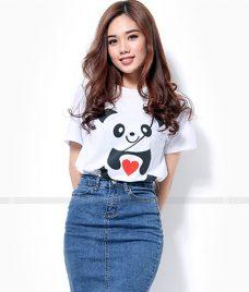 Ao Thun Nu Co Tron GLU TR31 may áo thun nữ cổ tròn