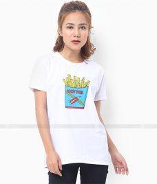 Ao Thun Nu Co Tron GLU TR35 may áo thun nữ cổ tròn