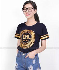 Ao Thun Nu Co Tron GLU TR36 may áo thun nữ cổ tròn